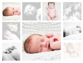 collage newborn Mijke om en om